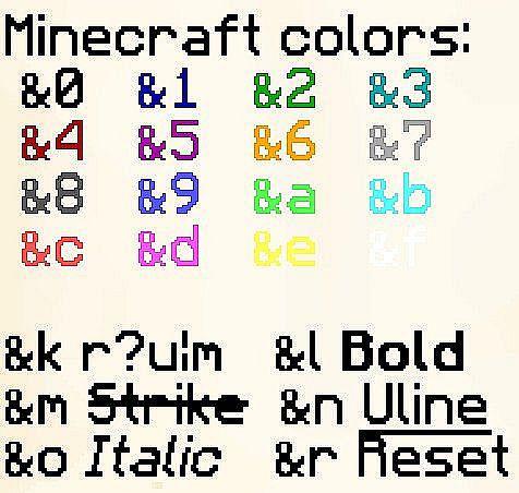 Как сделать разноцветный ник в майнкрафте на сервере
