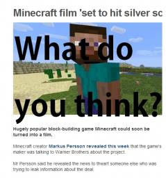 Minecraft May be Turned into a Film Minecraft Blog Post