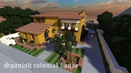 Spanish Colonial House Minecraft Map & Project
