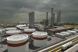 Lapiz Point's Oil Refinery | ECS ~ 100 Diamonds! Minecraft