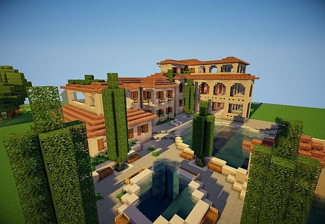 Huge Italian Villa Minecraft Map