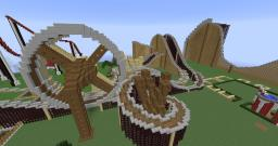 Minecraft Roller Coaster - The Race (Dark Side) Minecraft Map & Project