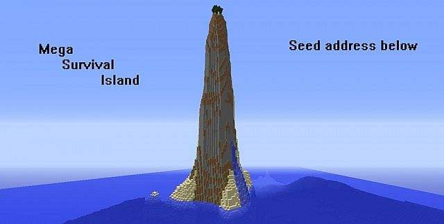 Mega High Vertical Survival Island Seed Minecraft Project
