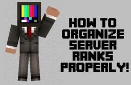 How to organize server ranks properly Minecraft
