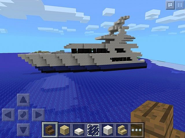 how to build a yacht in minecraft pocket edition