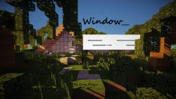 Window_ ⊂minimalistic A-frame house⊃ Minecraft Map & Project