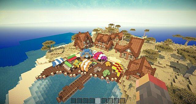 Bluewynn - Medieval Fishing Village Minecraft Project