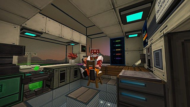 The interior of the base - workplace