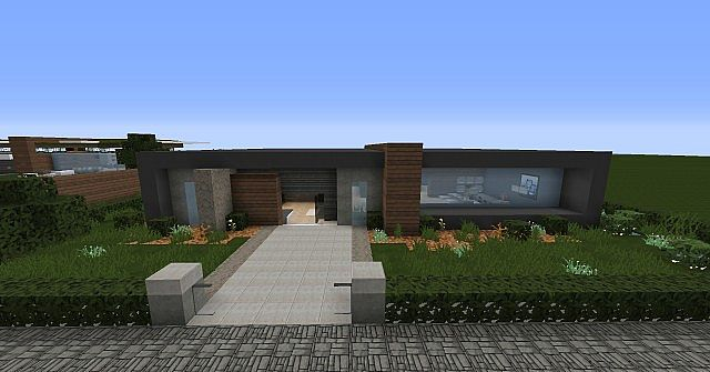 Modern house - Box_ Minecraft Project