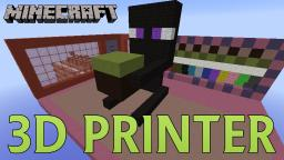 3D Printer in Your Inventory (Print Anywhere with Any Blocks) Minecraft Map & Project