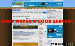 What makes a good server? (Pop reel)! Minecraft Blog