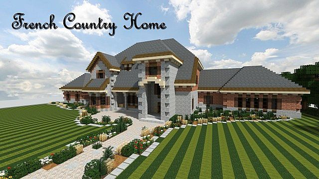 French country mansion tbs wok minecraft project for Country style project homes