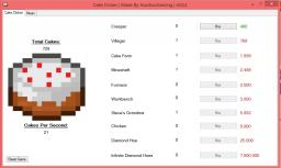 Cake Clicker, My New Game! Minecraft Blog Post