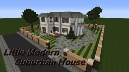 Little Modern Suburban/ Traditional House Minecraft Project