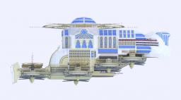 Lumina White Lotus - Fantasy Airship Minecraft Map & Project