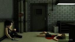 [Minecraft Art] Murder Scene Minecraft Blog Post
