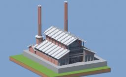 XIXth century factory Minecraft