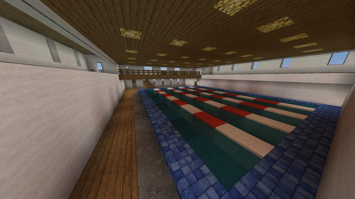 Indoor sportive swimming pool