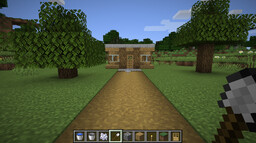 Small House with Grass Path Minecraft Map & Project