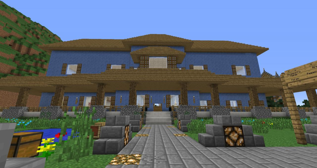 exciting a big house in minecraft. Percy Jackson Survival RP  Big House Minecraft Server