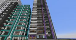 Modern Purple Skyscraper Minecraft