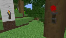 ONLY FOR SNAPSHOTS BEFORE 1.8 - 3D Model Torches For Minecraft' Snapshots And Minecraft Texture Pack