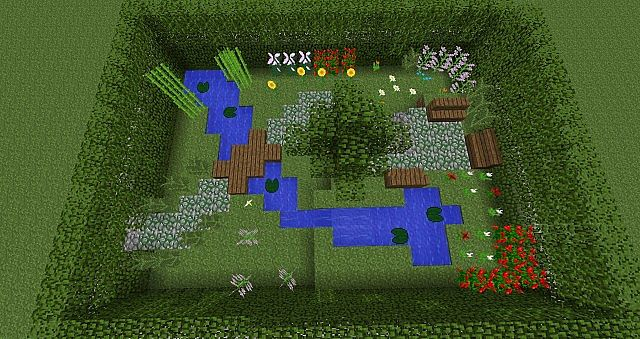 small garden minecraft project - Minecraft Garden Designs