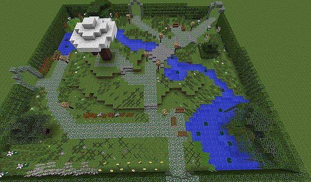 Minecraft Beautiful Garden big garden minecraft project