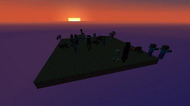Mobs Island Nighttime