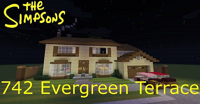 The simpsons 742 evergreen terrace minecraft project for 742 evergreen terrace springfield