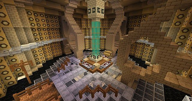 9-10th TARDIS Control Room by Drakelx555