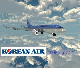 Korean Air - Boeing 737 Minecraft Map & Project