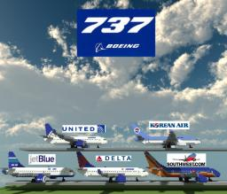 Boeing 737 Liveries Minecraft Map & Project