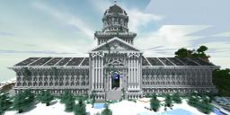 The Snowy City Hall Minecraft Map & Project