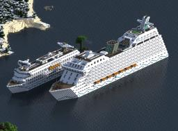 2 Modern Cruise Ships - Over 300 blocks! - [DOWNLOAD] - Ninaman Minecraft Map & Project