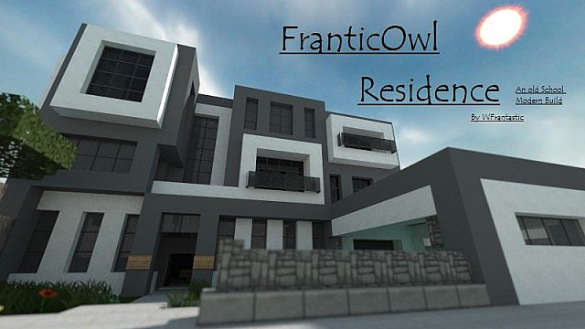 FranticOwl's Residence - An Old School Modern Mansion Minecraft Project