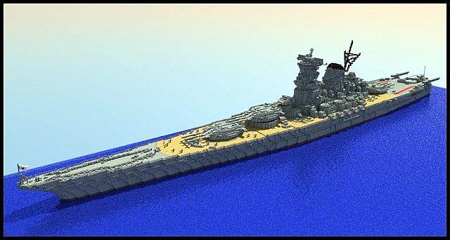 Ijn Yamato Class Battleship Minecraft Project