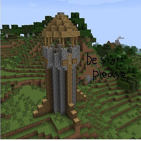 how to make a minecraft tower