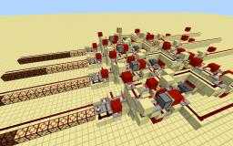 Hexadecimal Adder and Subtractor using comparators Minecraft Map & Project