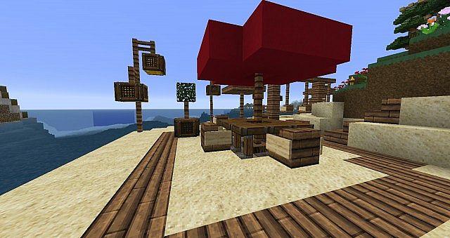 Small Beach with Swing-Umbrella Minecraft Project