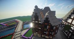 Tudor row house in 'Strasbourg' Minecraft Project