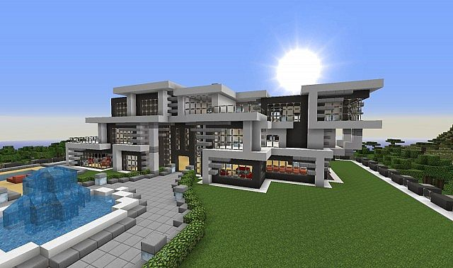 Ultra modern villa minecraft project for Villa ultra moderne