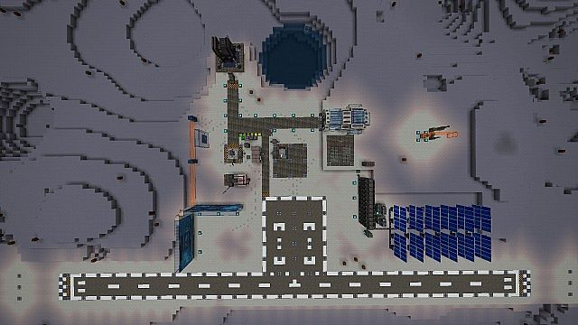Top view of the base