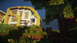 |Curve| modern House Minecraft Map & Project