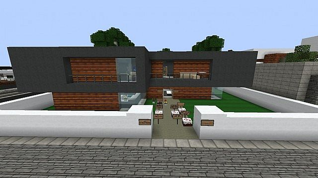 Post modern house wok minecraft project for Post modern house