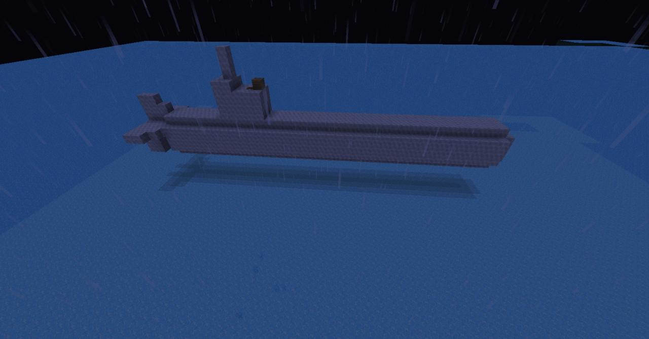 small submarine (works with archimedes ships!) Minecraft Project