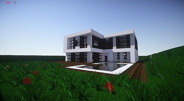 cin matique maison moderne minecraft project. Black Bedroom Furniture Sets. Home Design Ideas