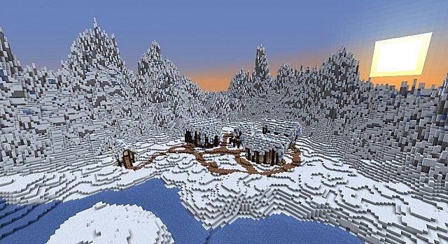 id карт снежная карта в майнкрафт #6