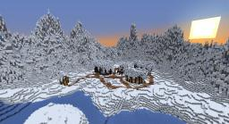 Custom Terrain: Ice Mountains and Snow Village Minecraft Map & Project