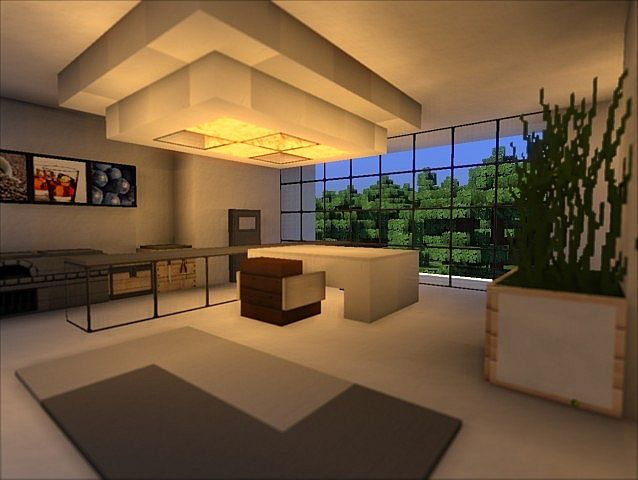 Modern house 2 download minecraft project for Dining room minecraft